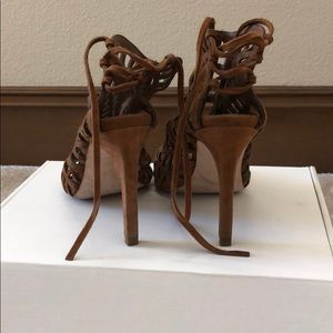 Zara Shoes - Zara Brown Strapped Heels 7